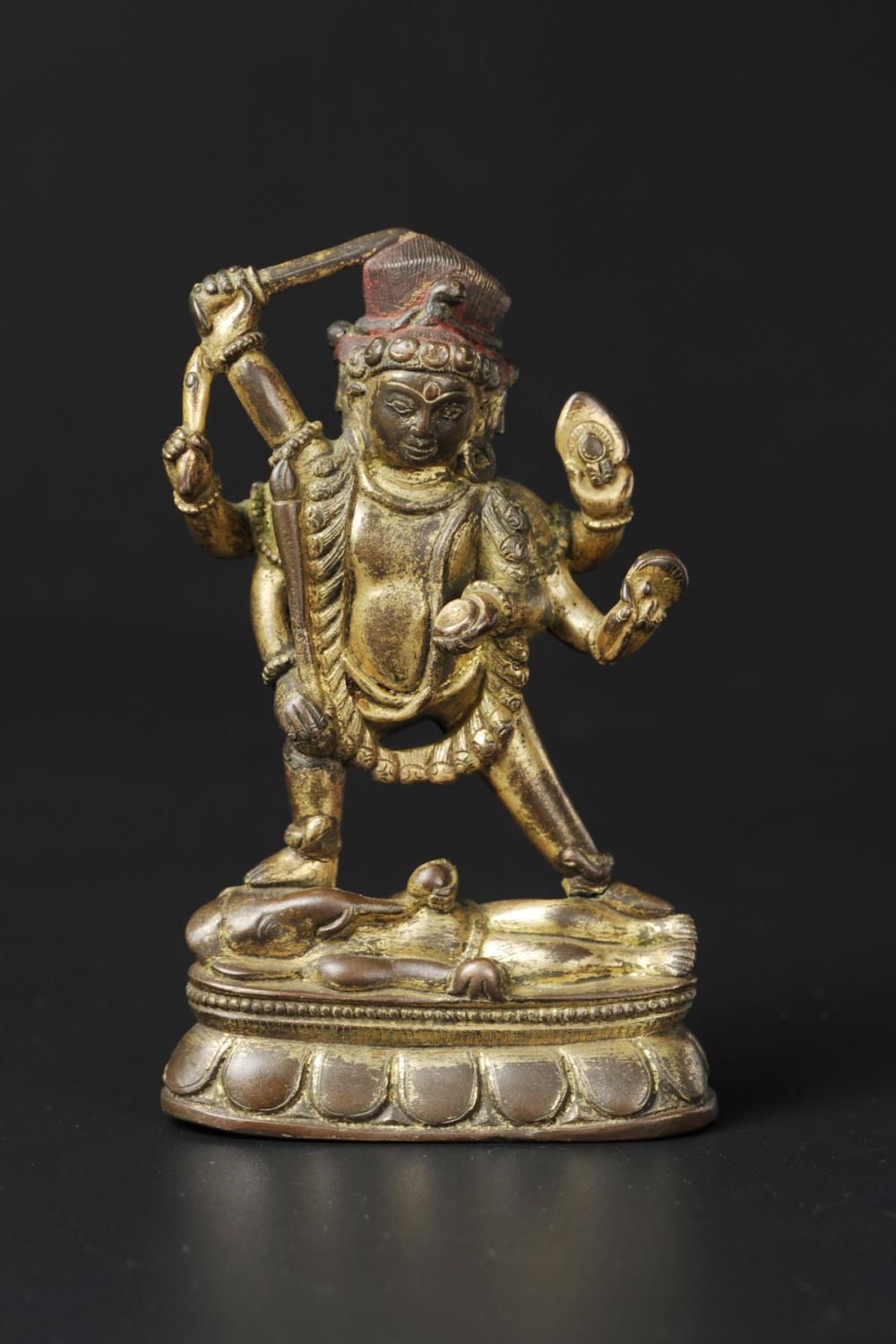 CHINESE GILT BRONZE BUDDHIST FIGURE, MING DYNASTY