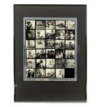 SID AVERY. JAMES DEAN. A Sid Avery signed twenty-nine image contact sheet photographic print.