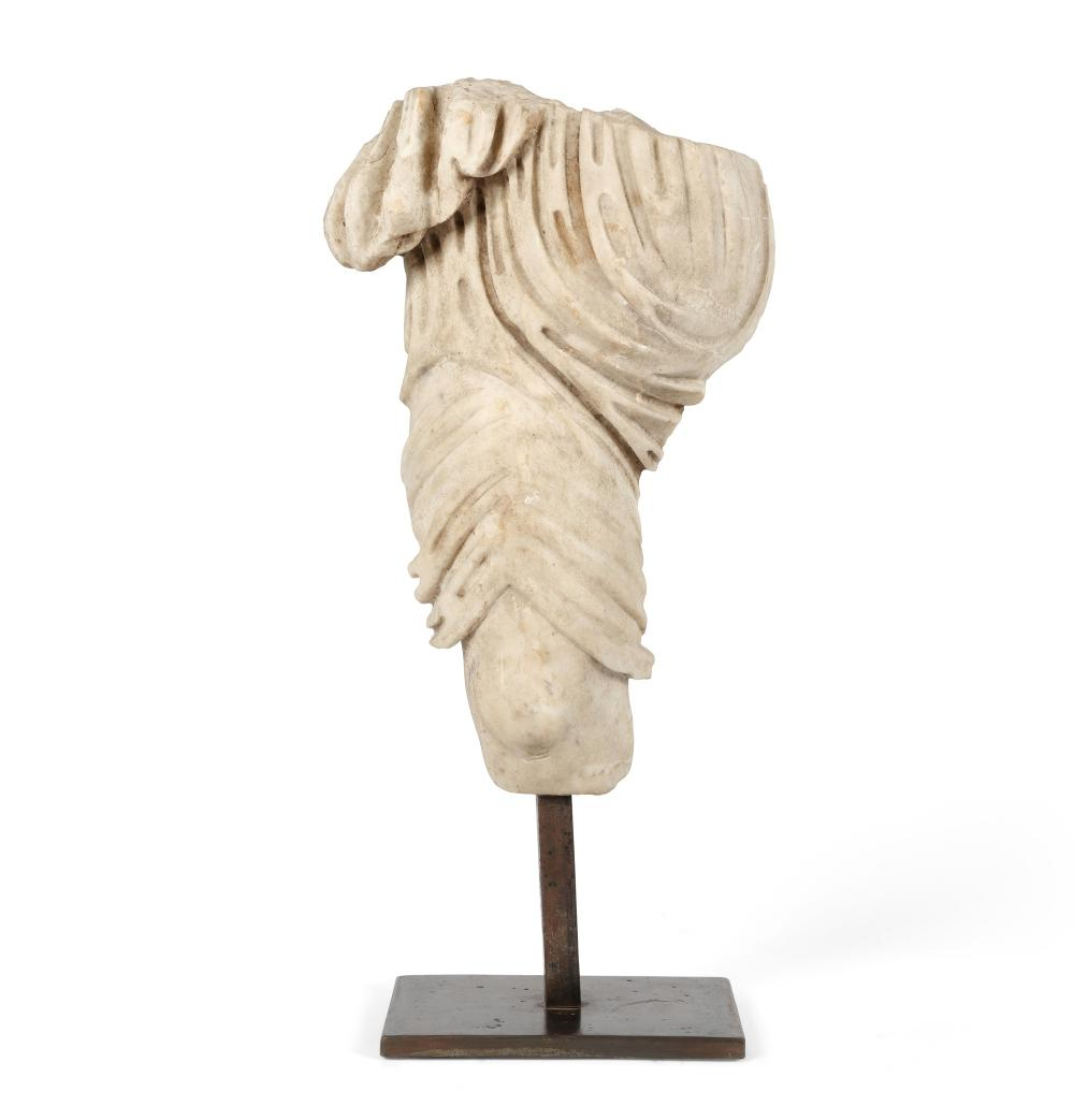 A Roman marble figure fragment, possibly Artemis, possibly Ancient