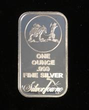 1 oz .999 Fine Silver Prospector Art Bar SilverTowne Sealed (New)