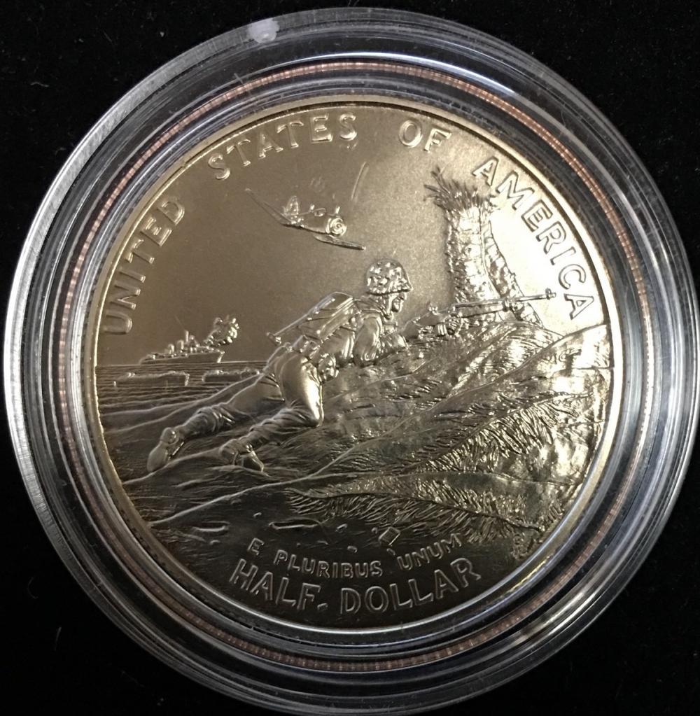 1991-1995 Uncirculated World War II Half Dollar BU Coin 1993 P WW2 50c
