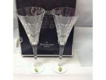 2 Waterford Celebration 1st Edition Love Toasting Flutes New in Box