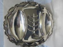 MEXICO STERLING SILVER FINE HEAVY LARGE MEAT 4 FOOTED CARVING TRAY