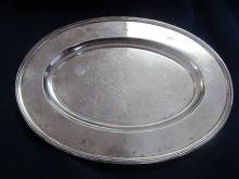 TIFFANY & CO M 20230 STERLING SILVER SMALL TRAY SHALLOW MONOGRAM S