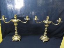 ORTEGA CANDLESTICKS 900 SILVER MEXICO # 7829 LGE FINE QUALITY  EX CONDITION