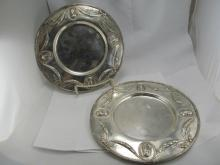 AUSTRIAN SILVER ANTIQUE PLATES ROYALTY BUSTS VERY GOOD CONDITION NO MONO