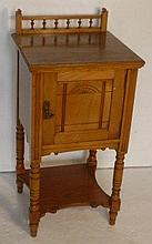 Victorian pine pot cupboard with bobbin turned