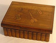 Sorrento style wooden sewing box with bookcase