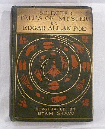 Selected Tales of Mystery by Edgar Allen Poe, colour illustrated by Byam Sh
