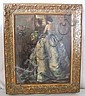 Large print of a lady in ball gown in gilt frame, Paul Mathias Padua, Click for value
