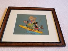 Goofy, Donald, and Mickey Publicity or Advertising Cel Walt Disney Studios 1960s