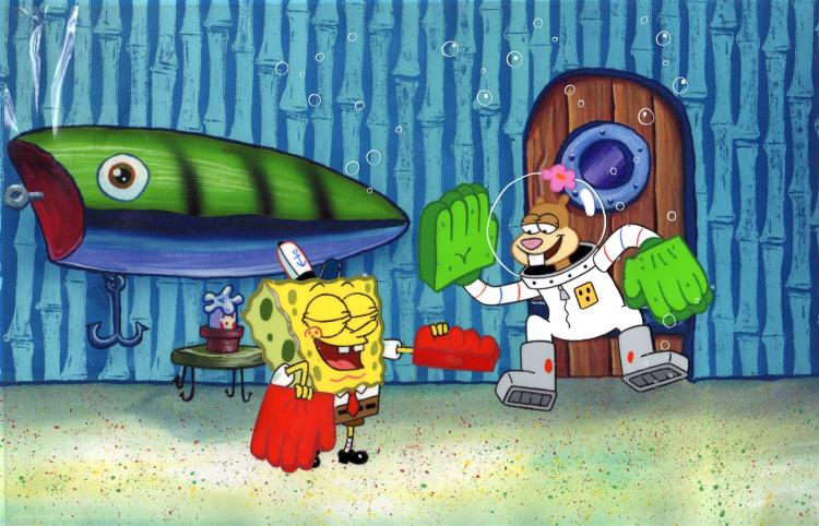 SpongeBob SquarePants Cartoon Production Cels 1999