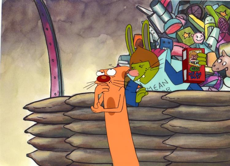 THE COLLECTOR Production Cel from the CATDOG Cartoon series