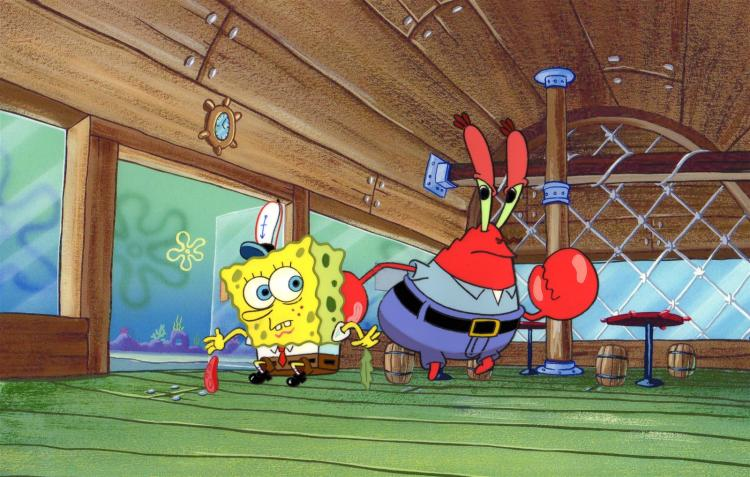 SpongeBob SquarePants and Krabs from Pickles 1999