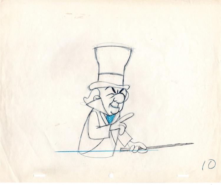 Mr. Magoo Christmas Carol Production Drawing 1962