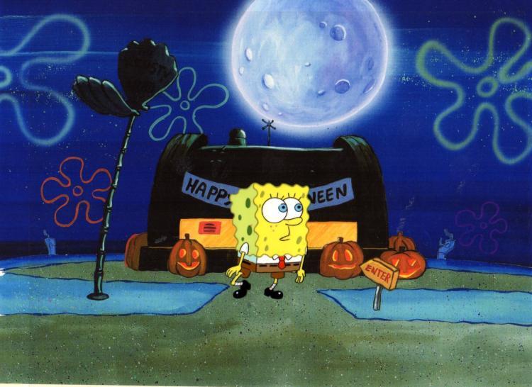 SpongeBob Squarepants Production cel 1999 of SpongeBob