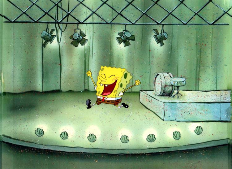 SpongeBob on stage from SpongeBob SqurePants.