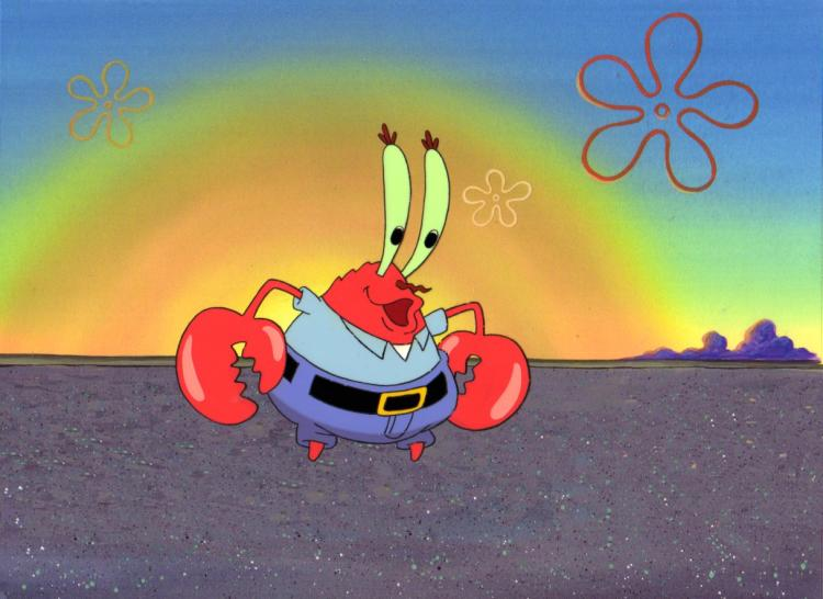 Krabs production Cel from FIRST SEASON 1999