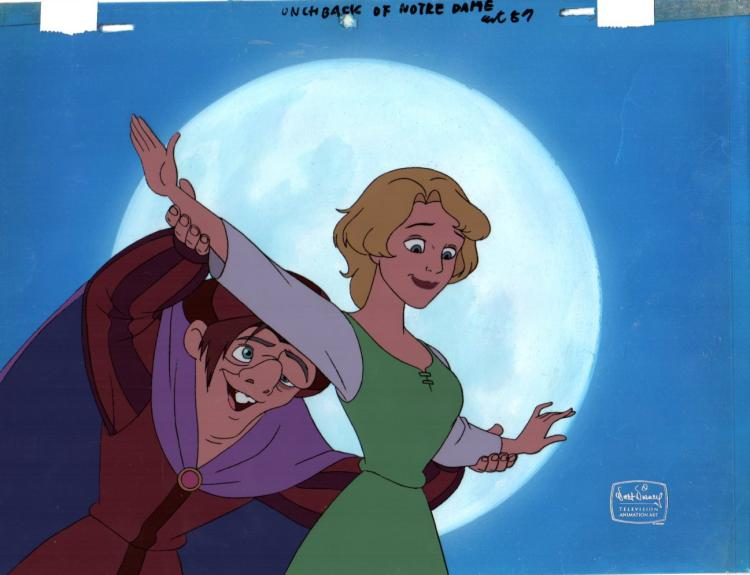 Keymaster Production Background and Production Cel Disney Studios