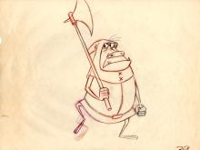 1959 SLEEPING BEAUTY Production drawing of the Goon. Walt Disney Studios