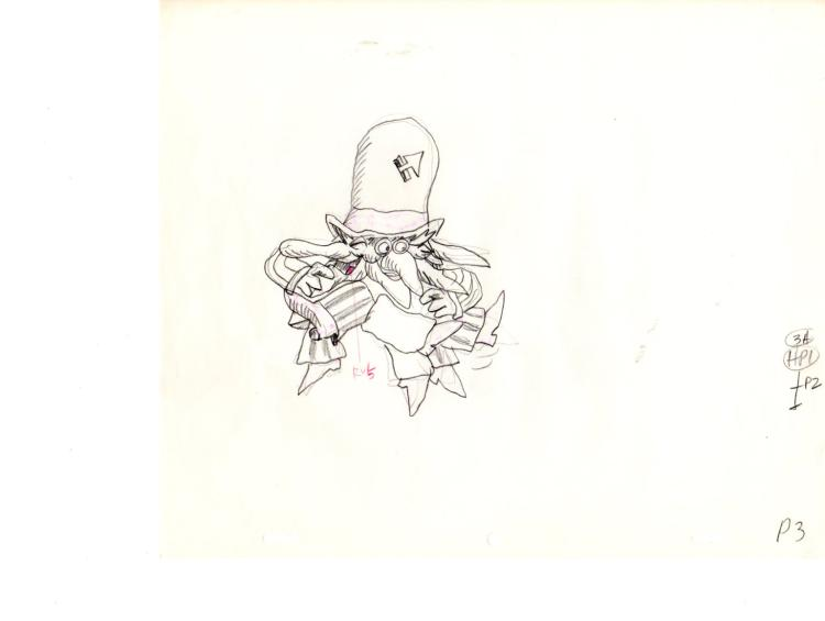 1981 Production drawing of the Pointless man. Harry Nilsson