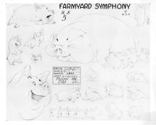 Model sheet from Walt Disney's Farmyard Symphony 1938