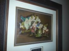 SNOW WHITE AND THE 7 DWARFS 1938 cel setup Courvoisier Galleries framed