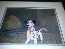 101 DALMATIONS 1961 MASTER PRODUCTION BACKGROUND and PRODUCTION CEL from Walt Disney