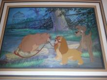 LADY AND THE TRAMP original production cels from Walt Disney