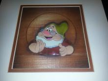 SNOW WHITE AND THE 7 DWARFS 1938 Courvosier cel setup of DOC from Walt Disney