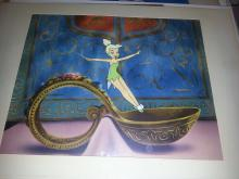 TINKERBELL 1960s Production cel from Walt Disney's Disneyland