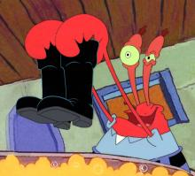 Krabs from SQUEAKY BOOTS production cel. 1999