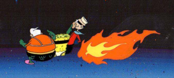 MermaidMan and BarnacleBoy production cel. 1999