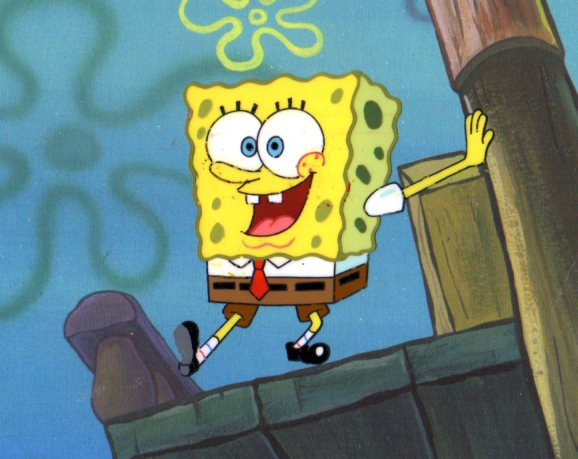 SpongeBob SquarePants from ARRGH! production cel 1999