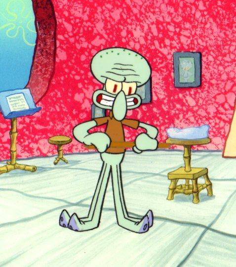 Squidward Production cel 1999