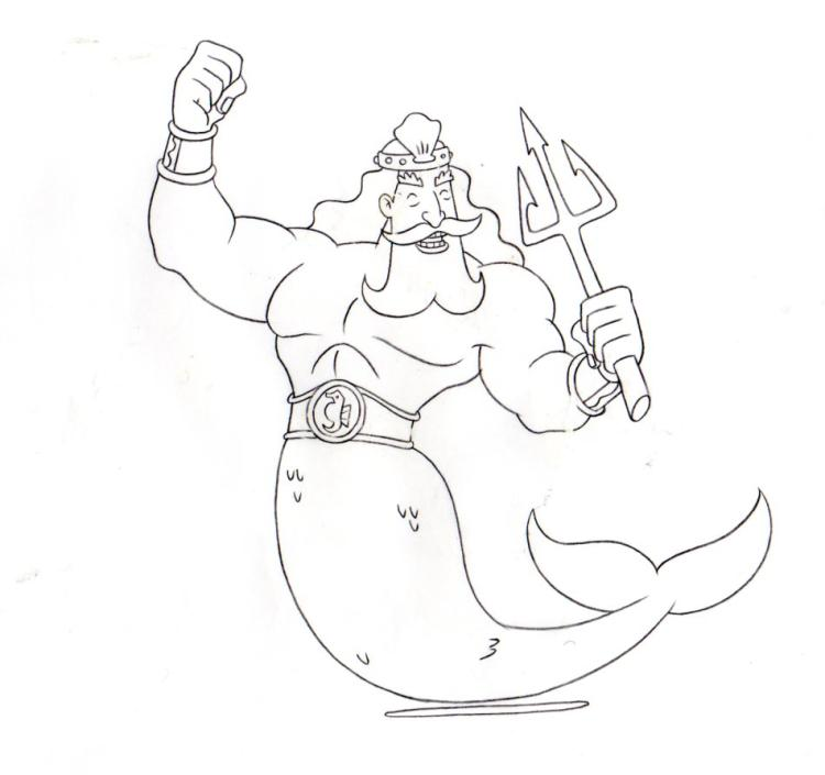 King Neptune from KING NEPTUNE production drawing 1999