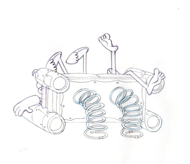 MERMAIDMAN and BARNACLEBOY Production drawing 1999