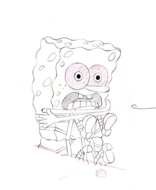 SpongeBob from SUDS production drawing 1999