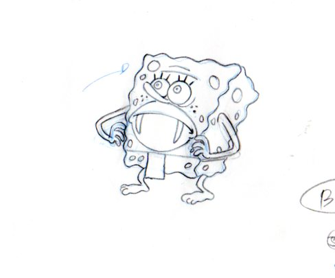 SpongeBob from SB 129 production drawing 1999