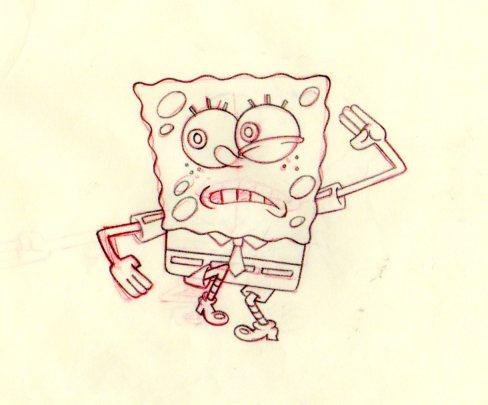 SpongeBob production drawing 1999