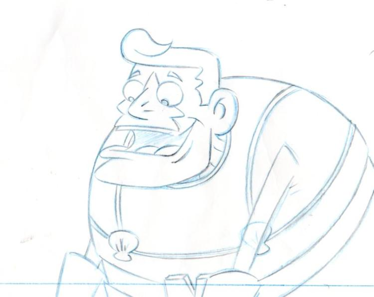 MermaidMan from MERMAIDMAN and BARNACLEBOY production drawing 1999
