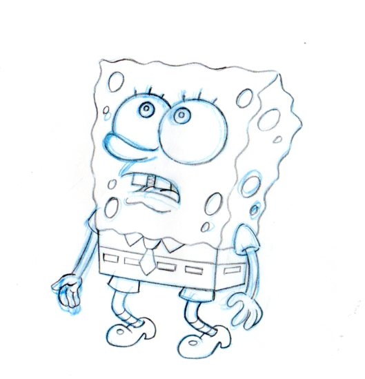 SpongeBob SquarePants production drawing 1999