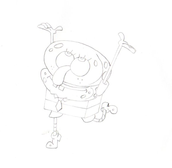 SpongeBob Squarepants from OPPOSITE DAY production drawing 1999