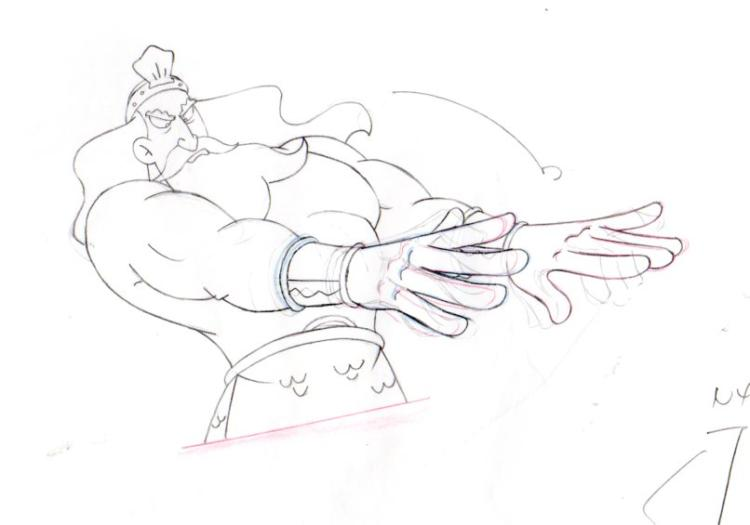 King Neptune from NEPTUNES SPATULA production drawing 1999