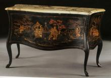 Rare chinoiserie lacquered á Balestra two-drawer commode (without traverse)