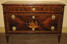 Palisander, Tulipwood and Marquetry Commode
