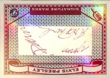 Elvis Presley Cut Signature: 2005 Topps Pristine Legends Signature Marks Baseball Card