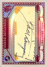 Jack Dempsey Cut Signature: 2005 Topps Pristine Legends Signature Marks Baseball Card