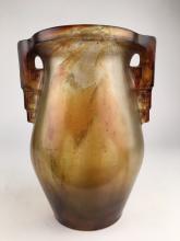Gabriel Argy Rousseau (French:1870-1959) pate de verre vase with two geometric