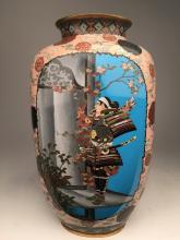 Very rare and important Circa 1880 Japanese cloisoine vase.
